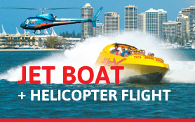 Jet Boat and Helicopter