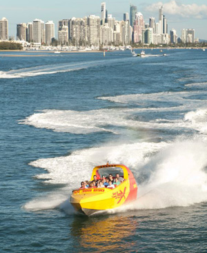 Jet Boat on Gold Coast Broadwater